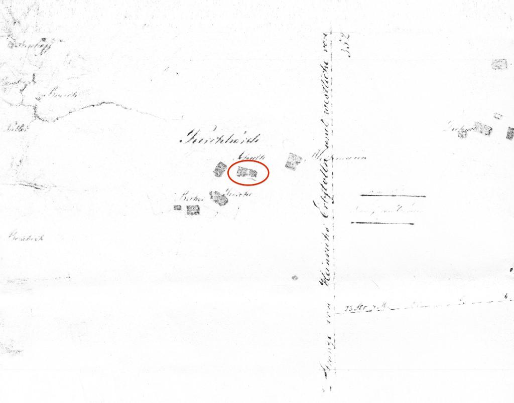 Karte 1827 Truxhof