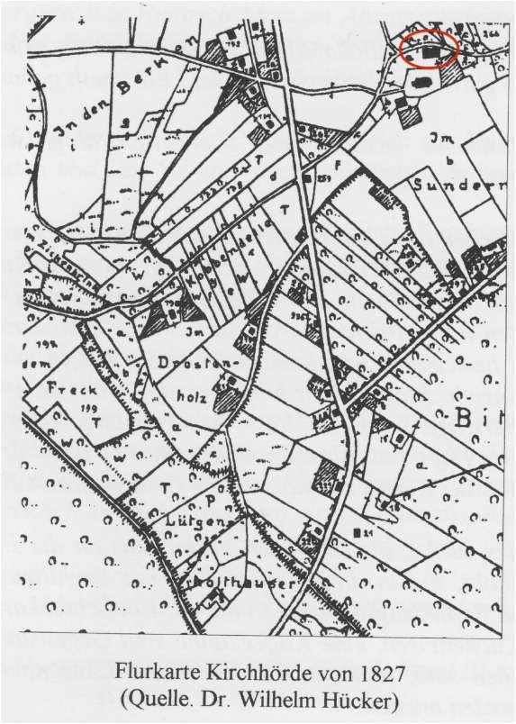 Flurkarte Kirchhörde von 1827
